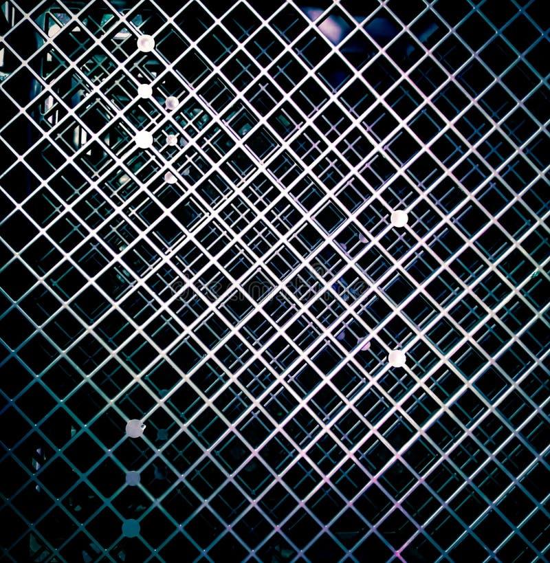 Abstracte zwarte vierkante patroonachtergrond stock foto's