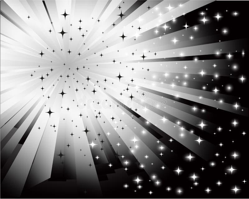 Abstracte zwarte witte achtergrond royalty-vrije illustratie