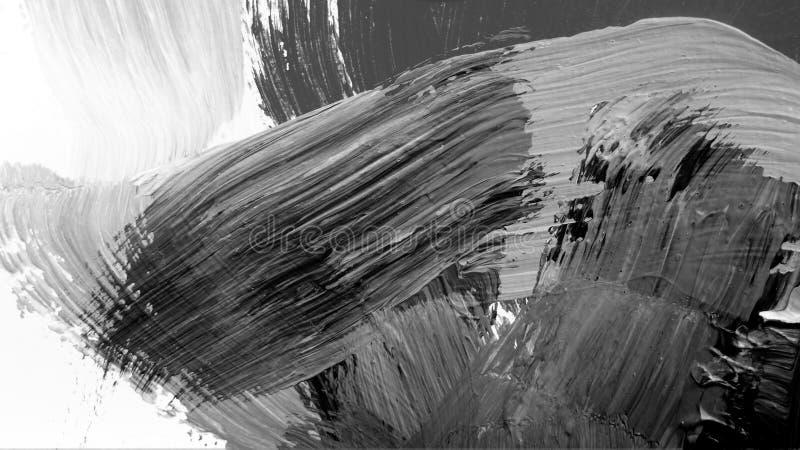 Abstracte zwarte witte het schilderen achtergrond vector illustratie