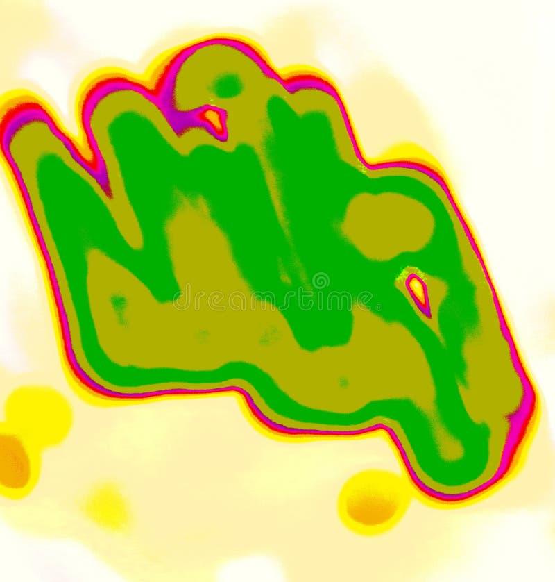 Abstracted forma pięść, pokazuje żywych kolory royalty ilustracja