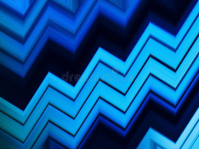 Abstracti blu vivo orizzontale del pixel di presentazione di affari dell'acqua illustrazione di stock