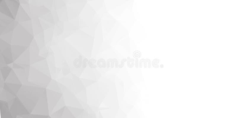 Abstractie Achtergrond van driehoeken en veelhoeken Verfrommeld blad van document stock illustratie