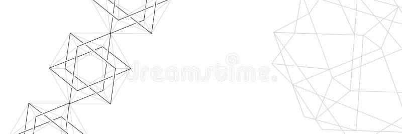 Abstractie Achtergrond van driehoeken en veelhoeken Verfrommeld blad van document royalty-vrije stock foto's