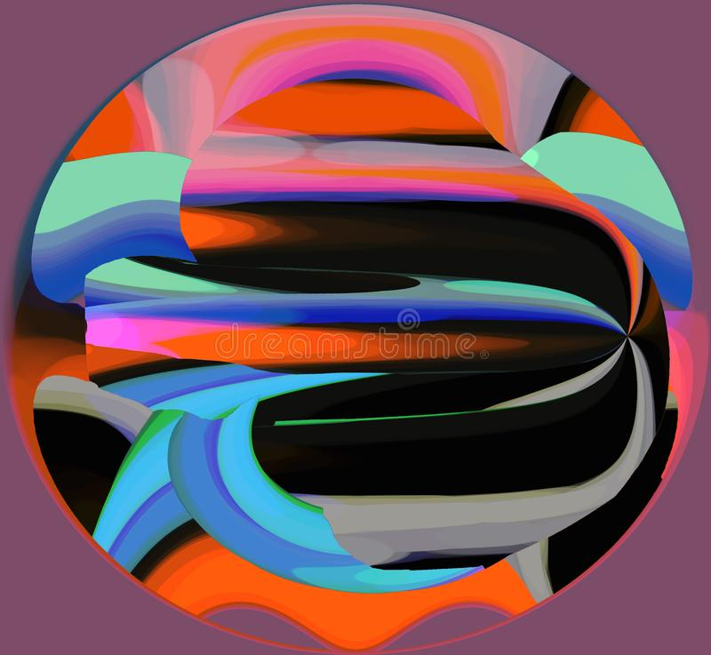 Abstractie Binnenlands grafisch Het schilderen Samenvatting Art beeld Ontwerp royalty-vrije illustratie