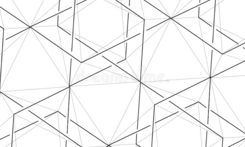 Abstractie Geometrische Vormen en Veelvlakken zeshoeken Ontwerp divers royalty-vrije stock afbeelding