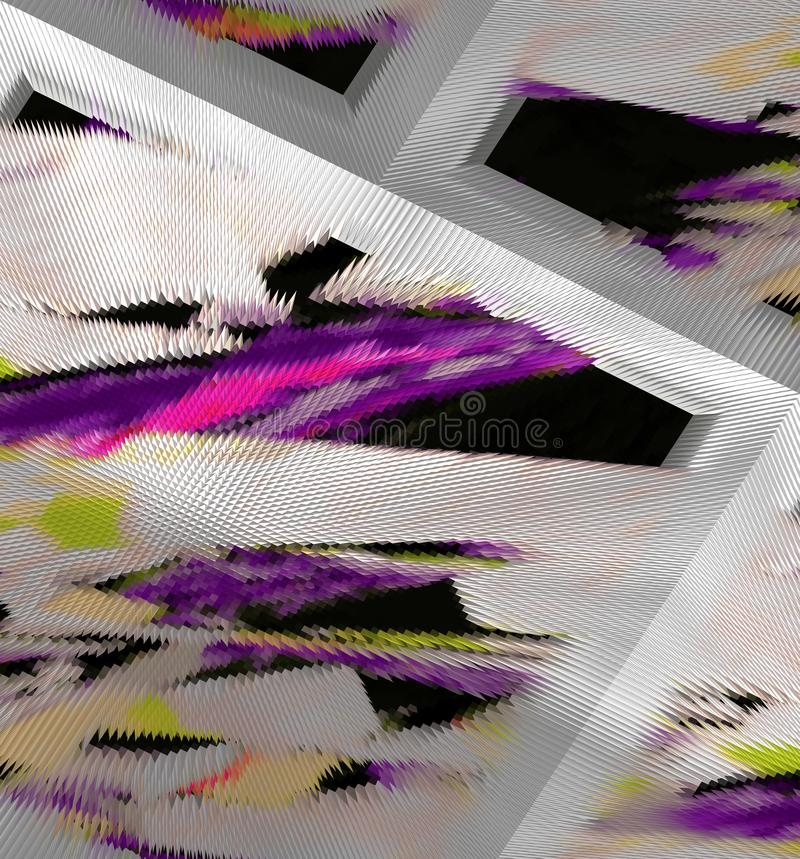 Abstractie Grafische arts. Het schilderen Samenvatting Art stock illustratie