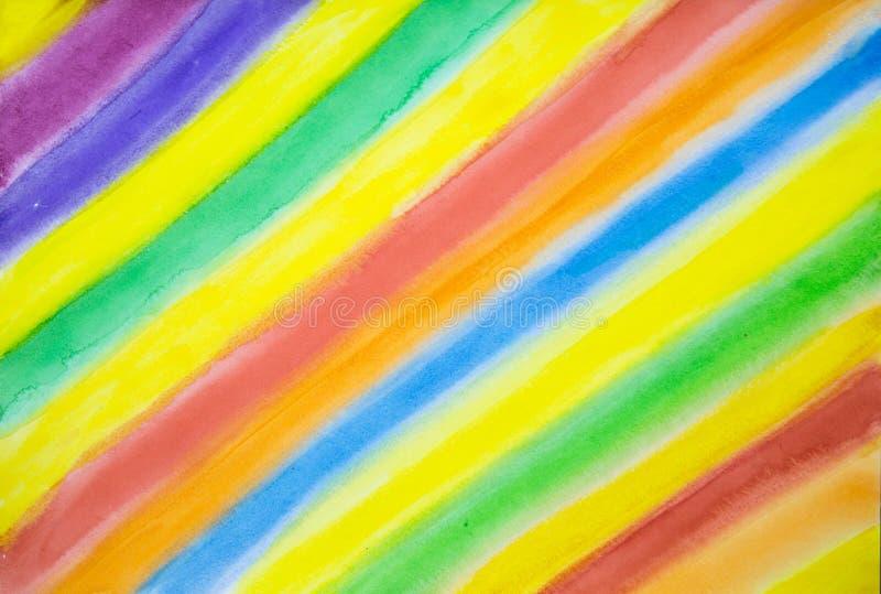 Abstractie Heldere gekleurde stroken op diagonaal stock afbeeldingen