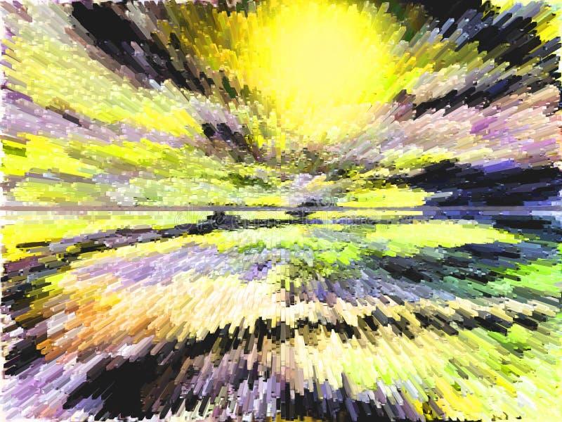 Abstractie Samenvatting Het schilderen beeld Textuur stock illustratie