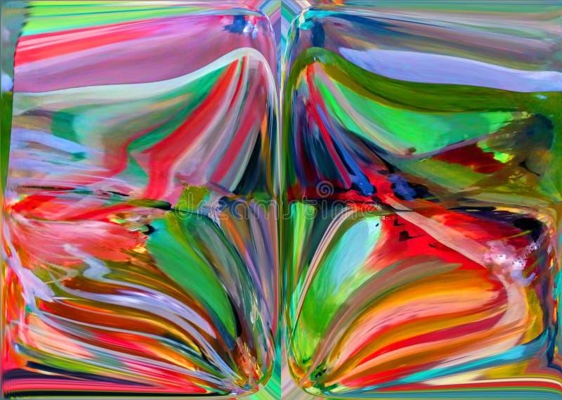 Abstractie Samenvatting Het schilderen beeld Textuur geweven uniciteit abstracties samenvattingen texturen kleurrijk kleuren Grap royalty-vrije illustratie