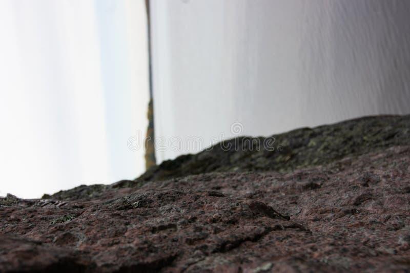 Abstractie van drie elementen Aarde, water, lucht De kruising van heelal Omgekeerde horizon royalty-vrije stock foto