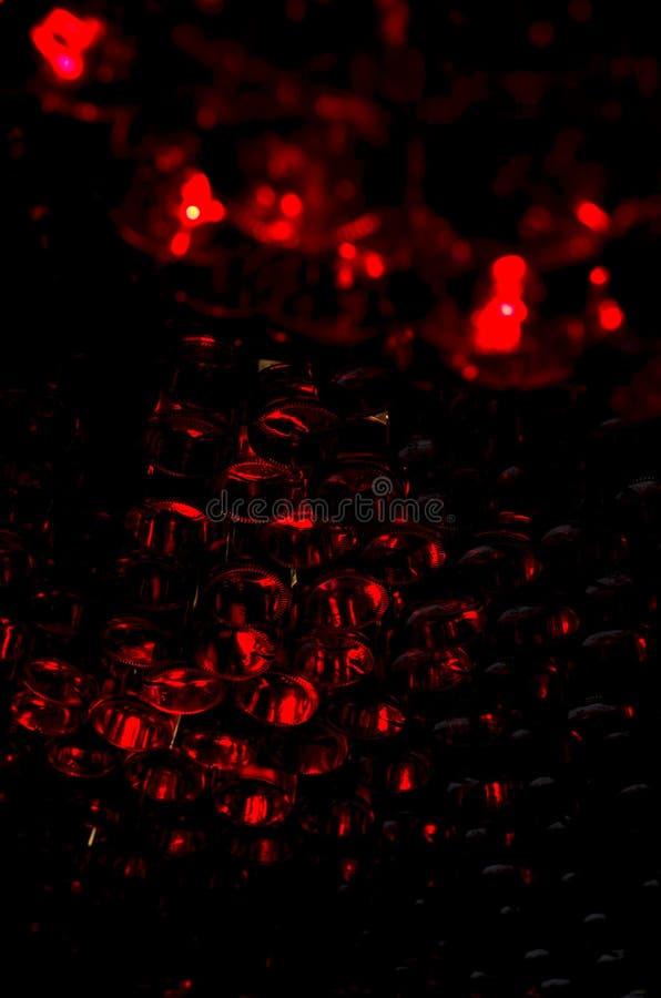 Abstractie van glasflessen stock foto's