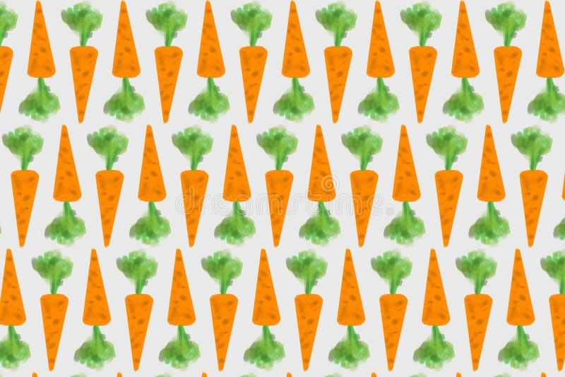 Abstractie van oranje wortelen met groene spruiten royalty-vrije stock foto