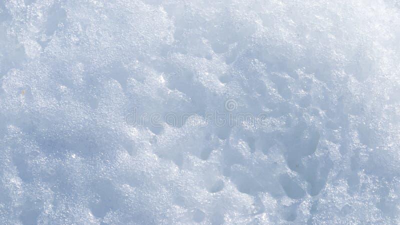 Abstractie van sneeuw met gaten stock afbeeldingen