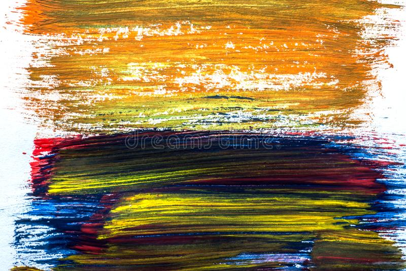Abstractie voor de achtergrond, die met verschillende kleuren op het gehele kader trekken royalty-vrije stock foto's