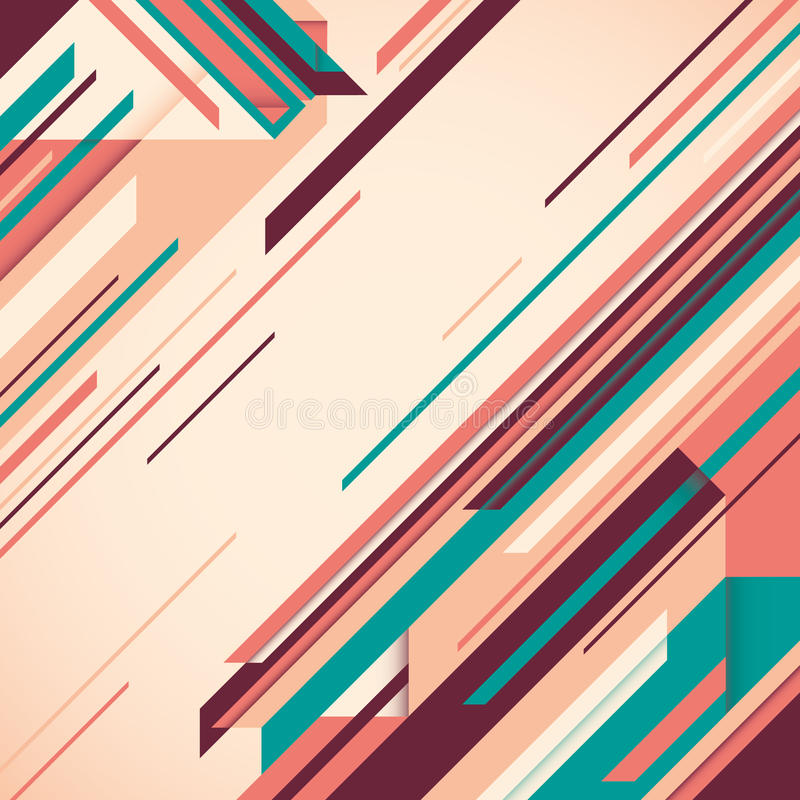Abstraction angulaire. illustration stock