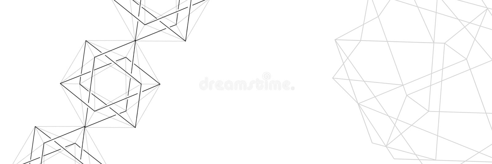 Abstraction. Background from triangles and polygons. Crumpled sheet of paper. royalty free stock photos