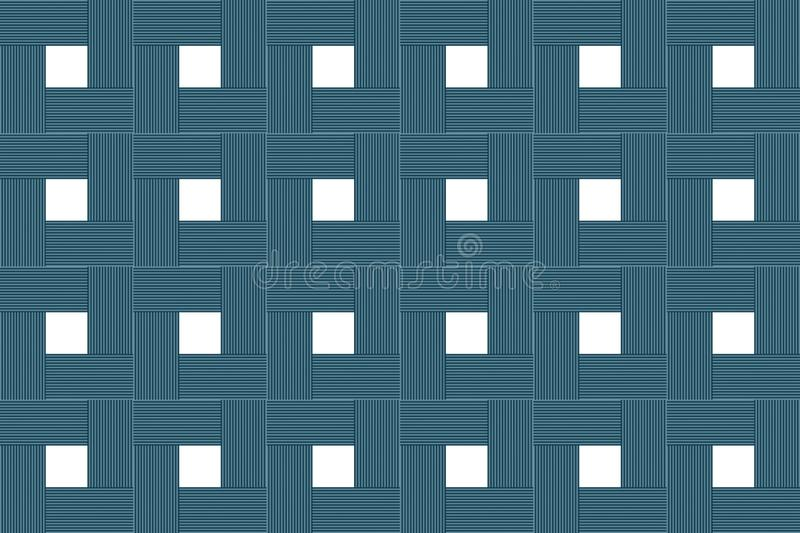 Abstraction background wooden blocks square white center symmetrical base design rustic stock illustration