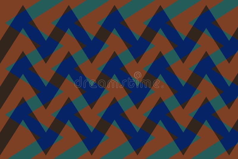 Abstraction belle, fond fin, original, juste de couleurs vertes, brunes, bleu-foncé ! illustration de vecteur