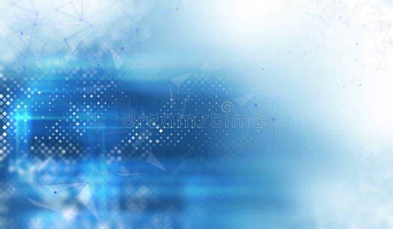 Abstraction bleue moderne illustration de vecteur