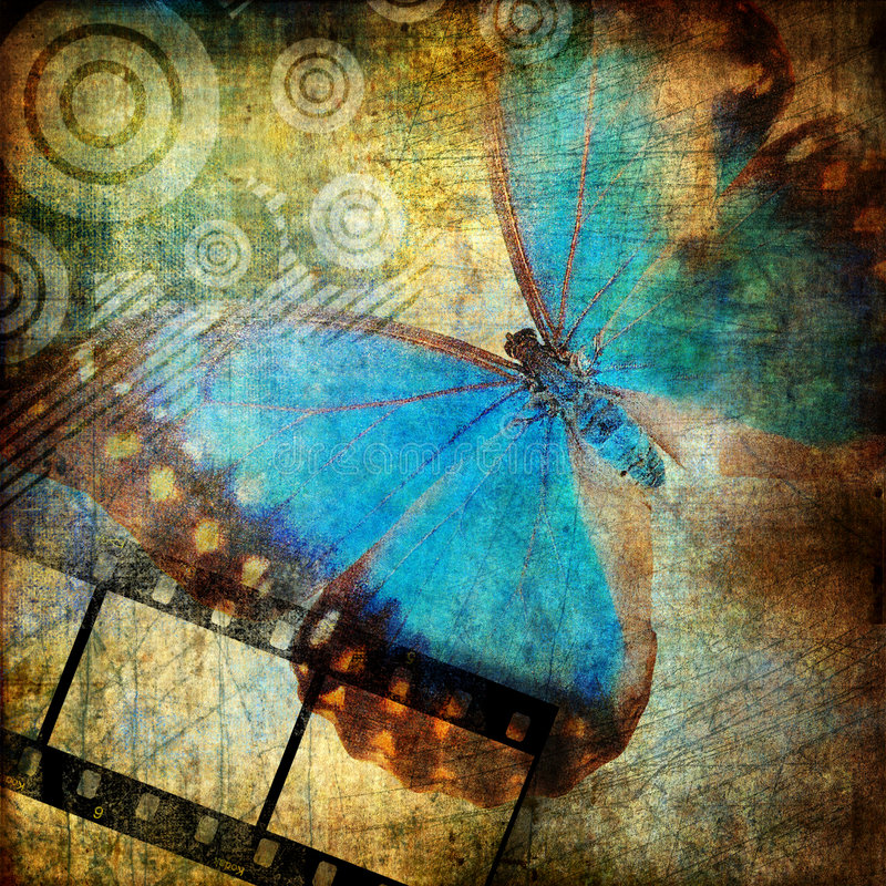 Abstraction with butterfly stock illustration