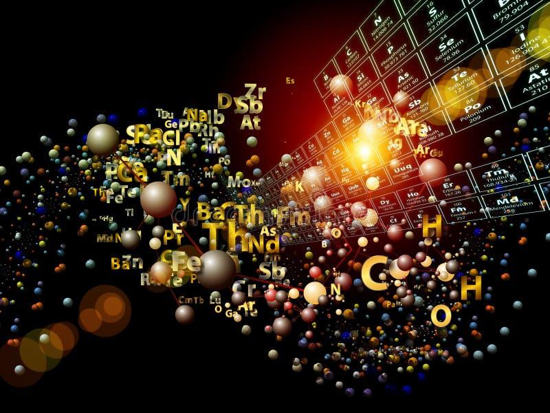 Abstraction d'éléments chimiques illustration libre de droits