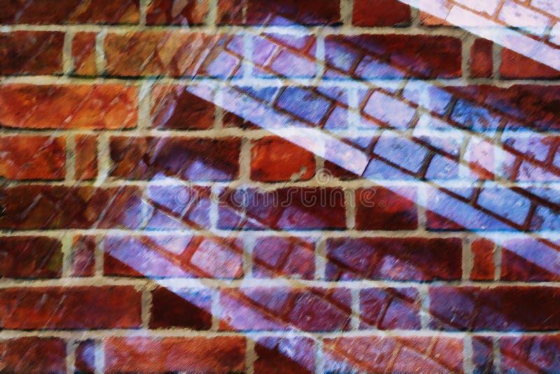 Abstraction de collage de brique photographie stock