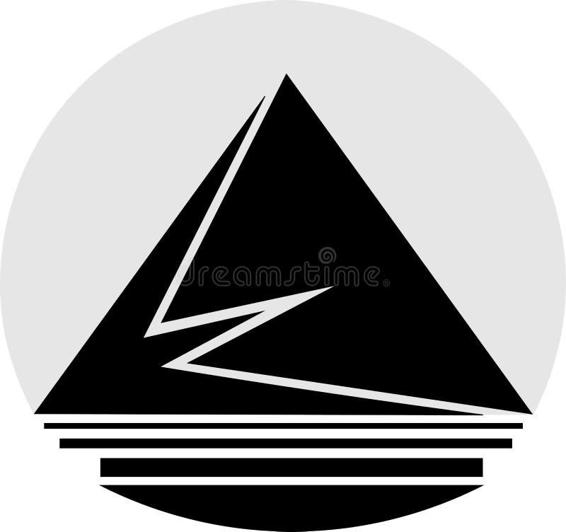 Abstraction de logo de minimaliste de triangles, de rectangles et d'éléments de cercle illustration libre de droits