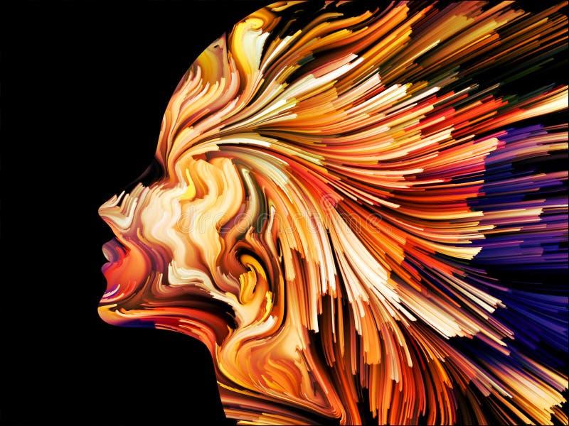 Abstraction de peinture d'esprit illustration libre de droits