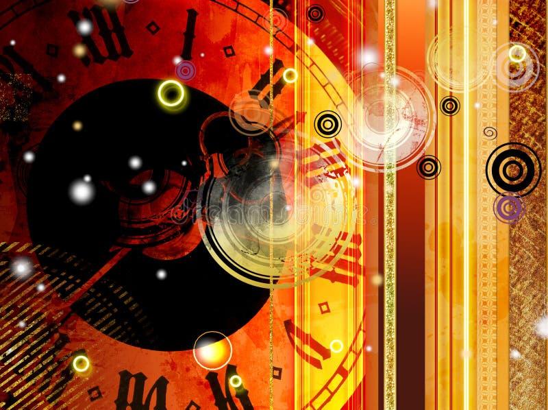 Abstraction de temps illustration libre de droits