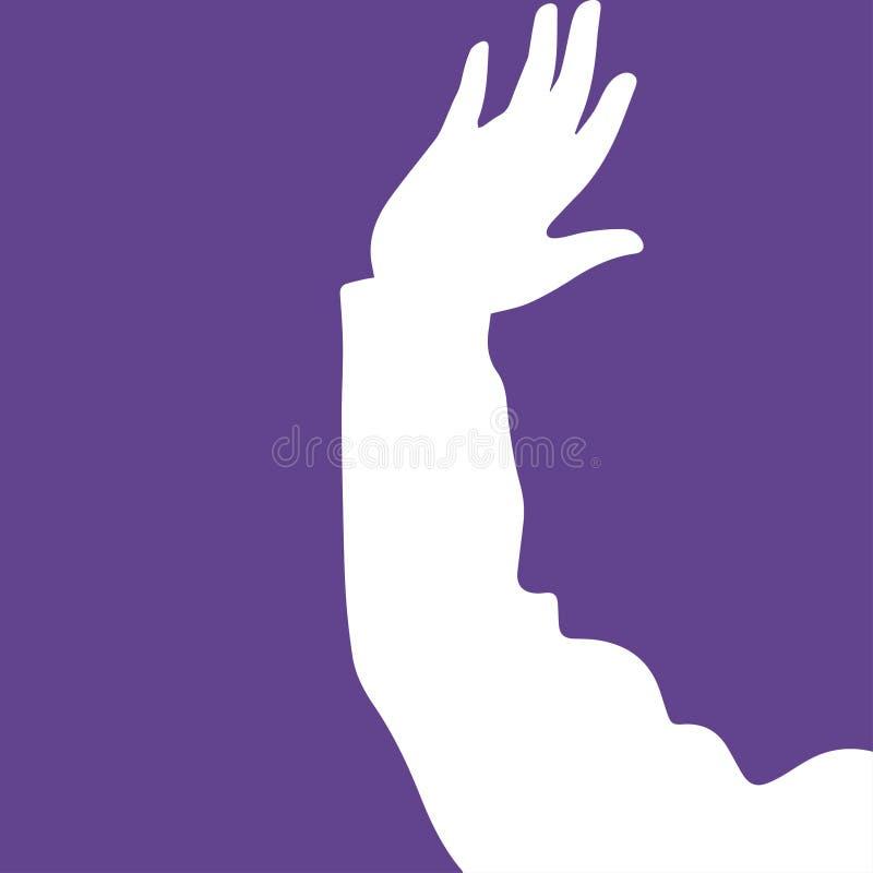 Abstraction des mains et des visages illustration libre de droits