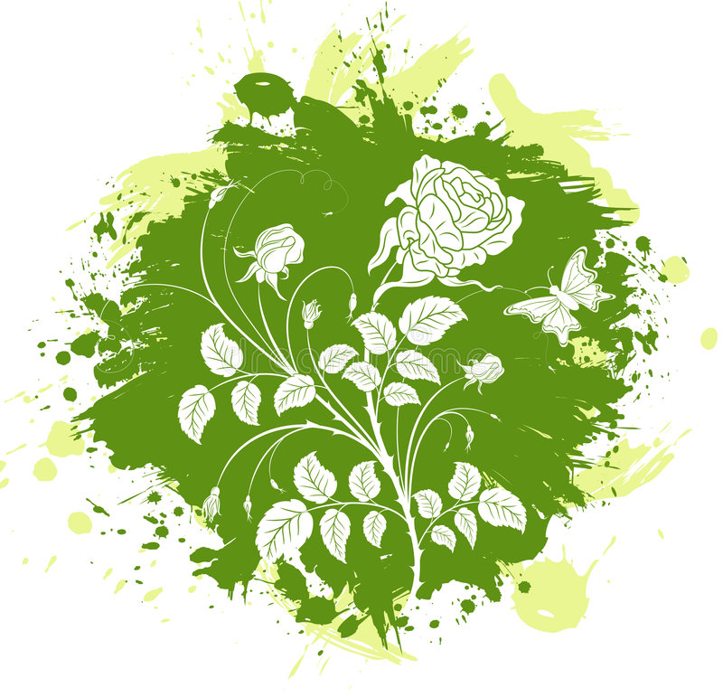 Abstraction florale illustration de vecteur