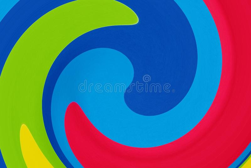 Abstraction in the form of a colored rainbow. Spiral blur tornado effect. Rainbow. Background royalty free illustration