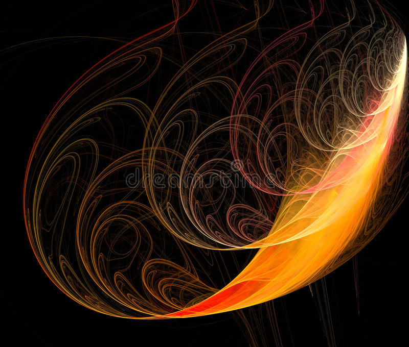 Abstraction fractal feather stock photography