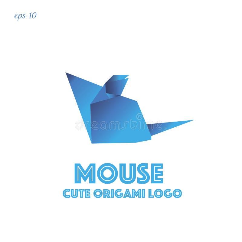Abstraction géométrique de souris drôle de logo illustration stock
