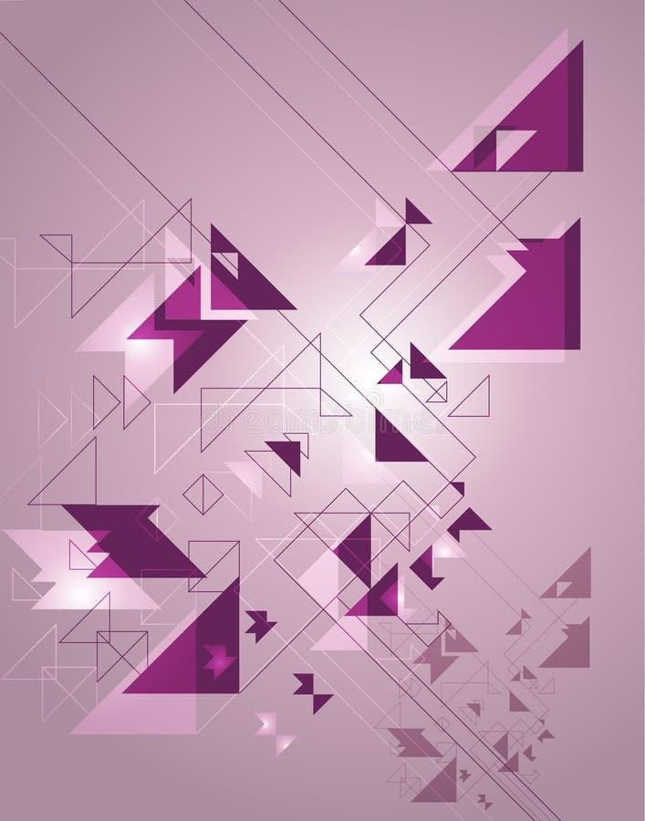 Abstraction géométrique sur un fond pourpré illustration libre de droits