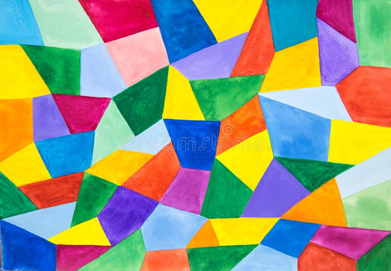 Abstraction Geometric shapes-triangles, trapezoids rhombuses in various bright colors. royalty free stock image