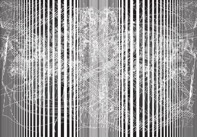 Abstraction grise sur un blanc images stock