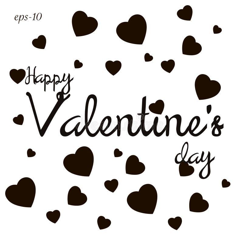 Abstraction heureuse d'amour de jour de valentines illustration stock