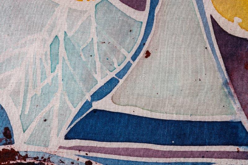 Abstraction, hot batik, background texture, handmade on silk, surrealism art stock images