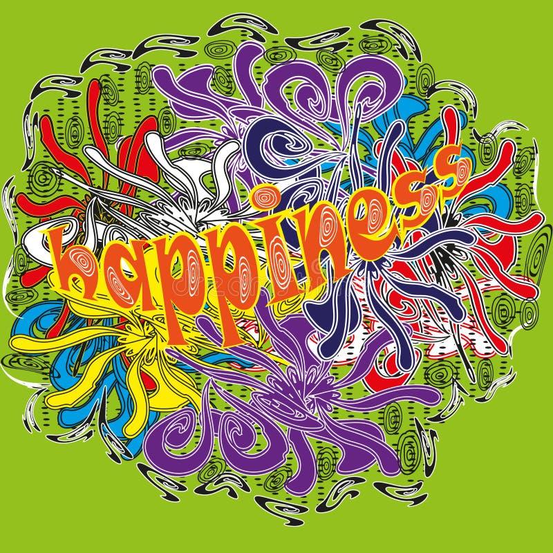 Abstraction lumineuse de dessin de Holi de couleurs illustration stock