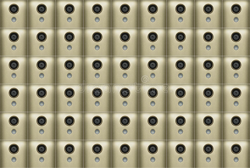 Abstraction of mobile phone cameras gold color. Abstract pattern made from mobile phone camera stock images