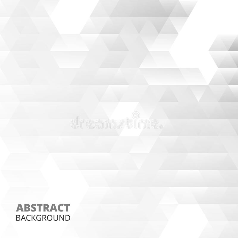 Abstraction of modern triangle patterns in white-grey background. Illustration vector eps10 royalty free illustration