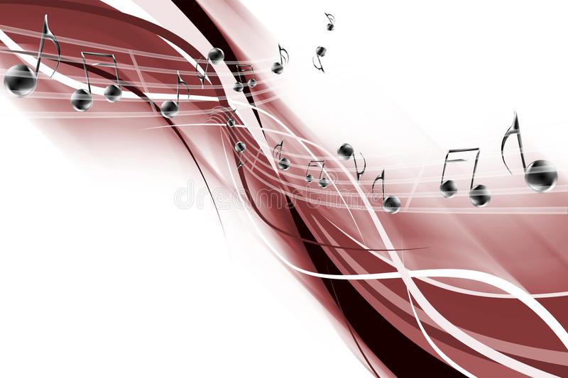 Abstraction musicale illustration stock