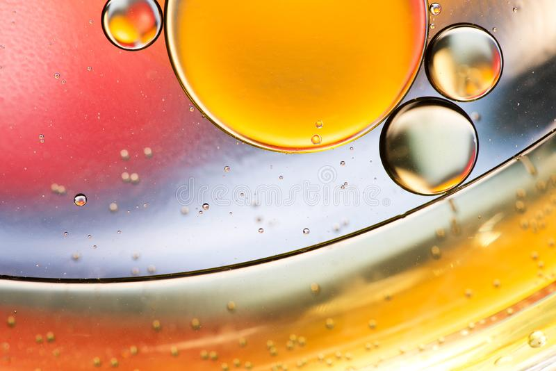 Olive oil on the water. olive oil bubbles stock images