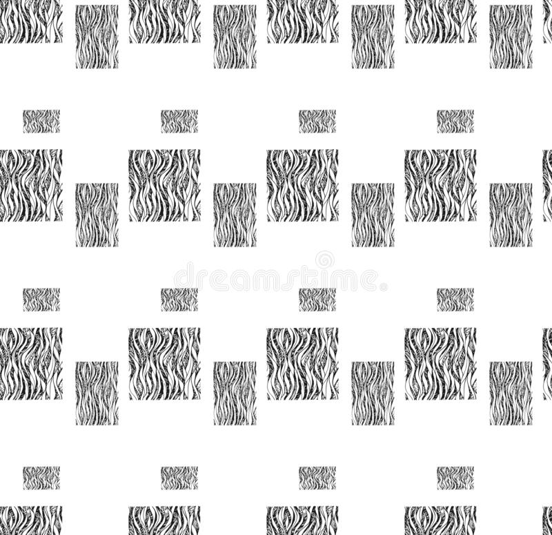 Abstraction pattern squares black vector illustration for design and decor vector illustration