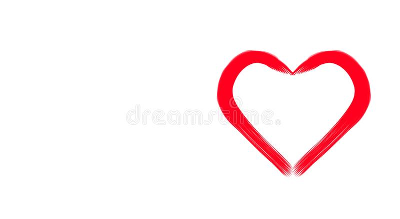 Abstraction. Red heart on a white background. royalty free stock image