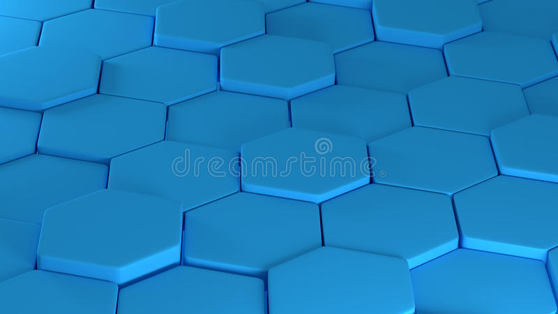 Abstraction se composant des polygones de bleu d'ensembles illustration libre de droits