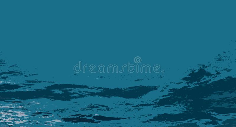 Abstraction, sea wave royalty free stock photo