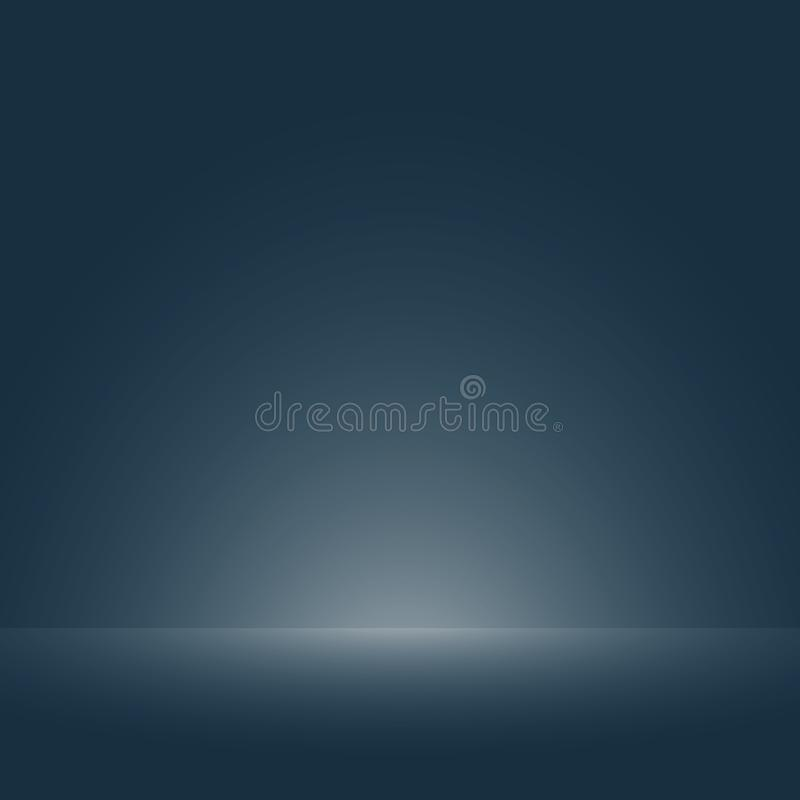 Abstraction of soft smooth dark blue with light of floor gradient for template background. Illustration vector eps10 stock illustration