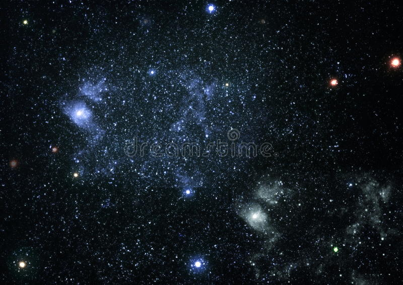 Abstraction space background for design. Mystical light. Deep space. High definition star field background royalty free stock photos